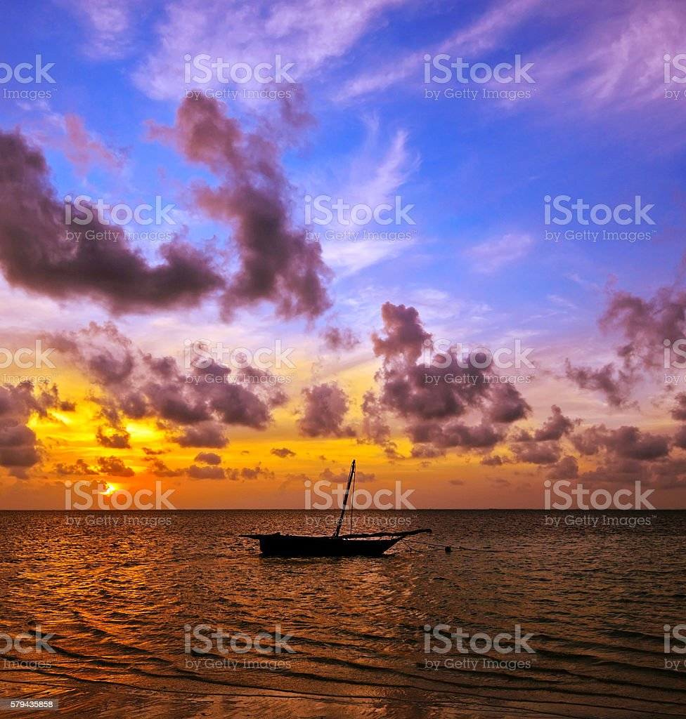 Beautiful of Diani in Kenya stock photo