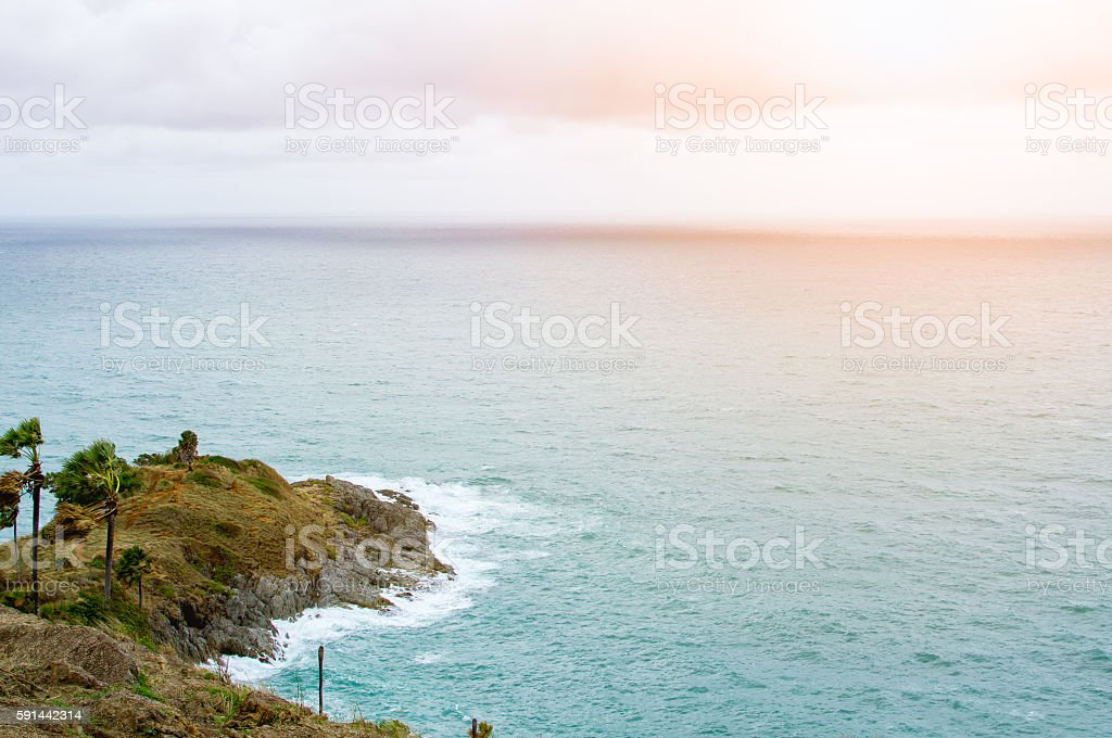 Beautiful of Promthep cape stock photo