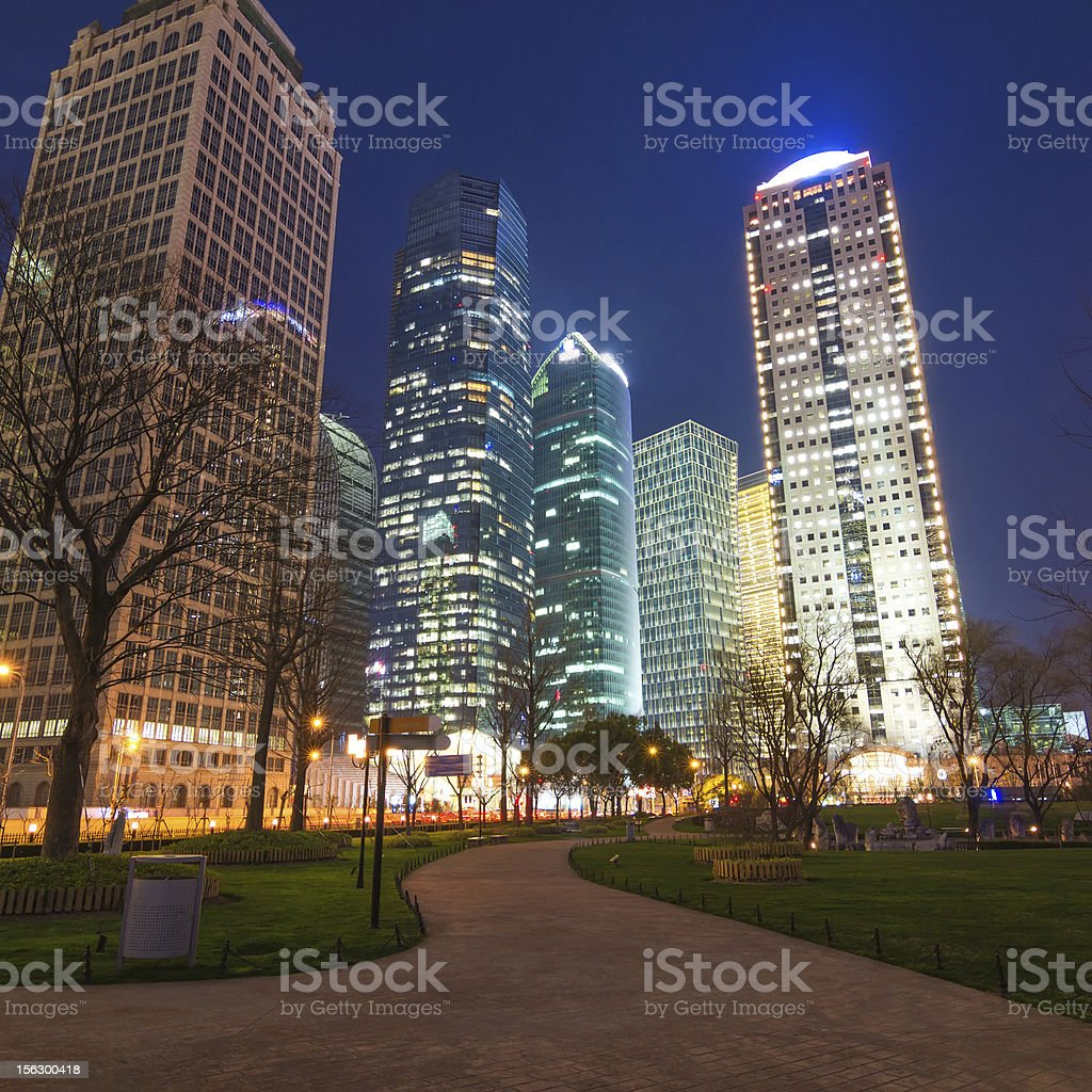 beautiful of shanghai night scene royalty-free stock photo