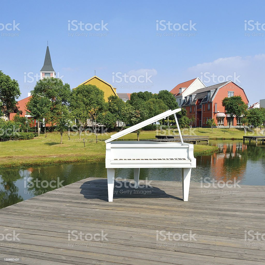 Beautiful of the residential community stock photo