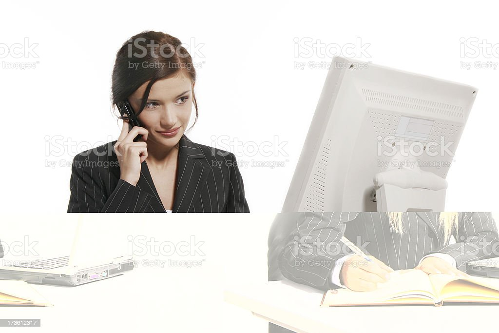 Beautiful office worker royalty-free stock photo