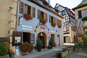 Beautiful old building in the village Ribeauville in France
