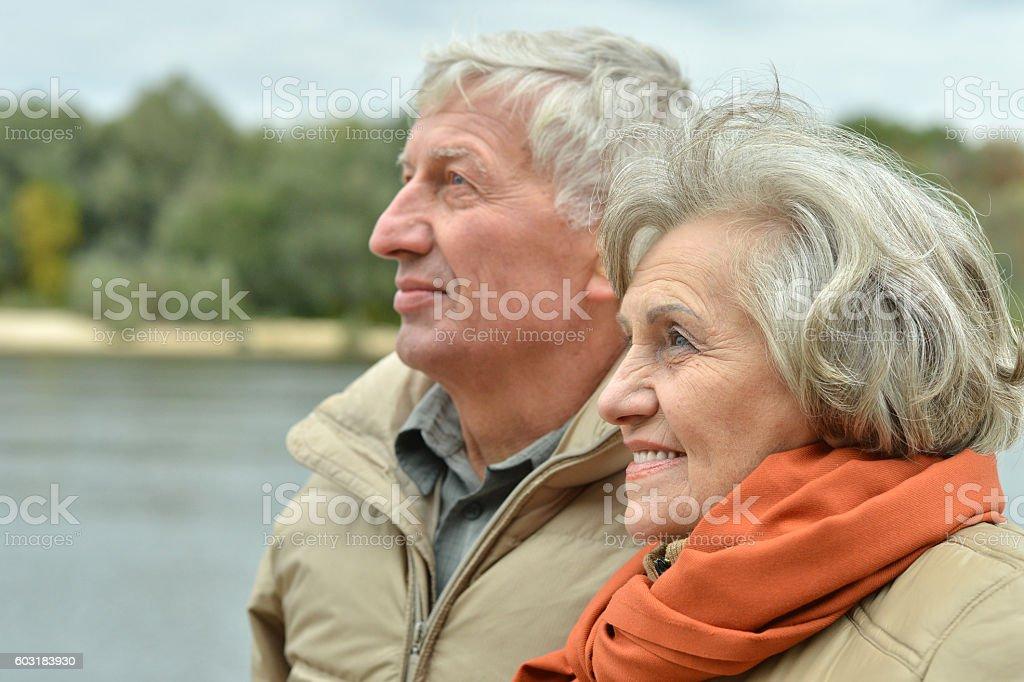 beautiful old couple stock photo