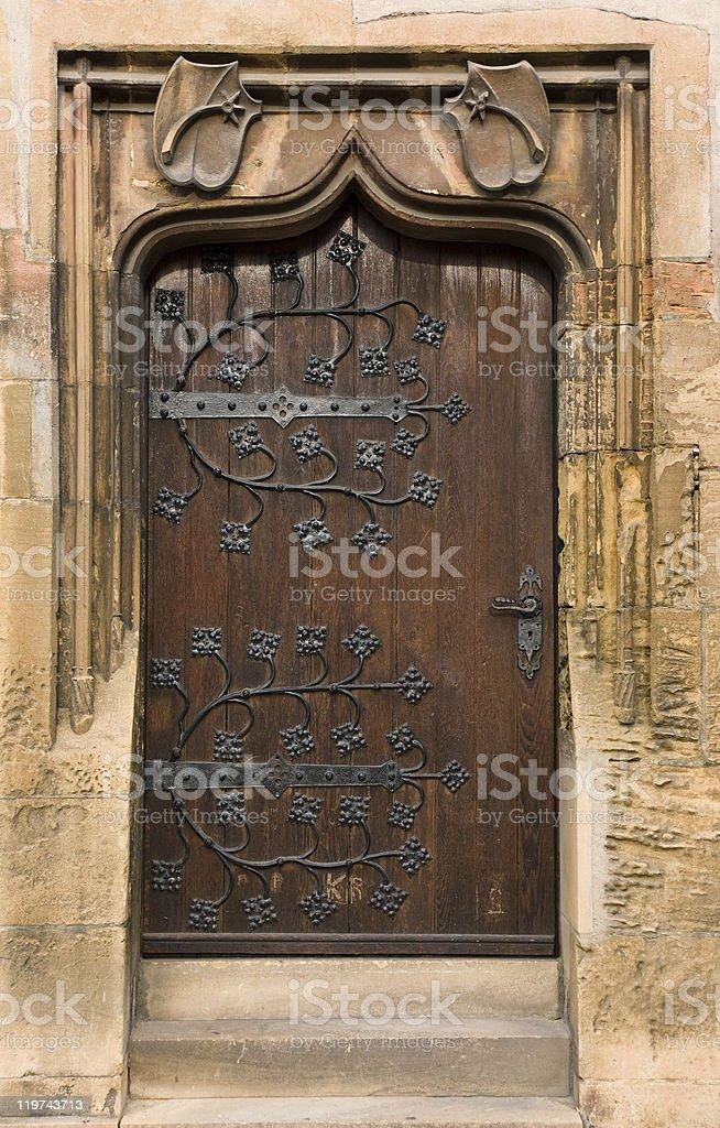 Beautiful old door royalty-free stock photo
