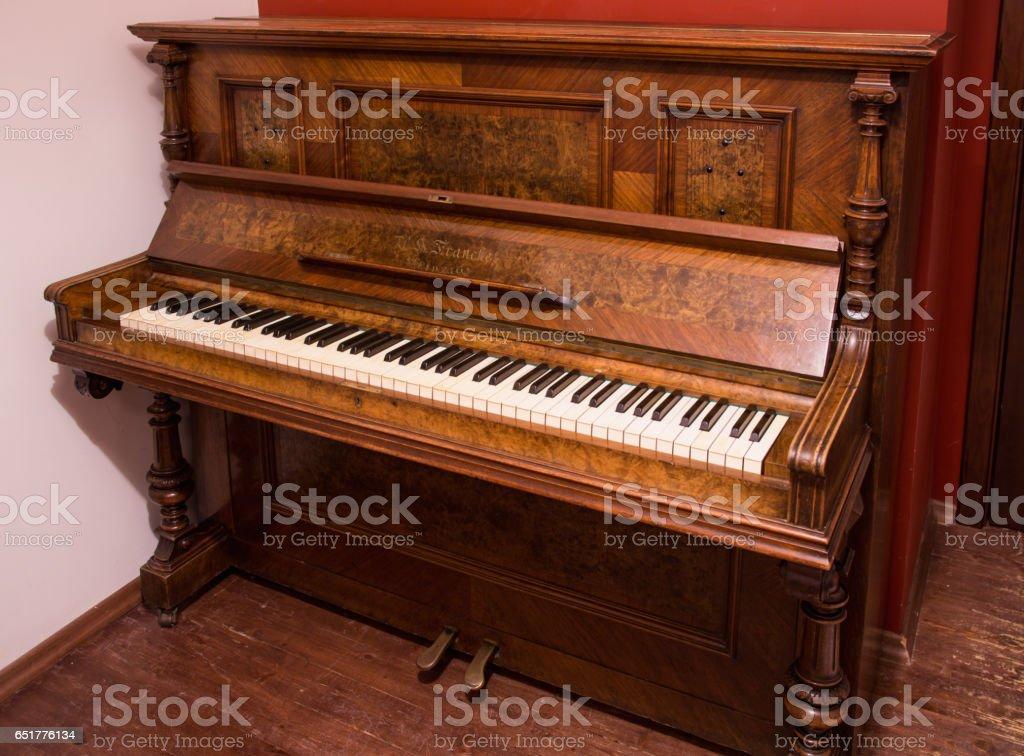 beautiful old German piano stock photo