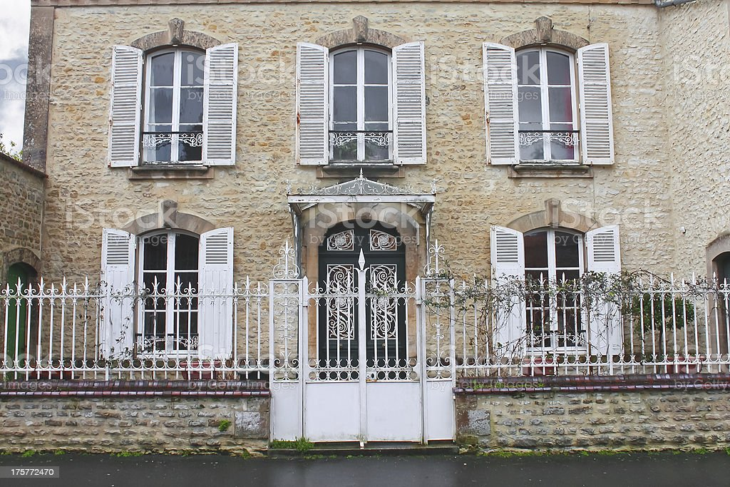 Beautiful old house in Bayeux. Normandy, France stock photo