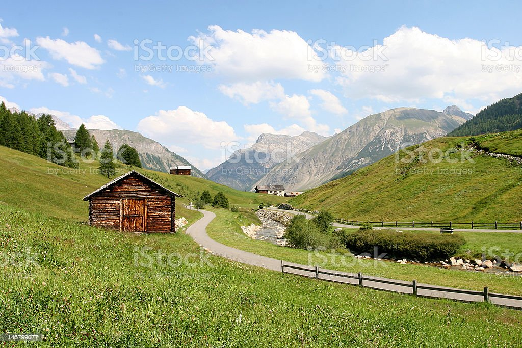 Beautiful old house in the alps royalty-free stock photo