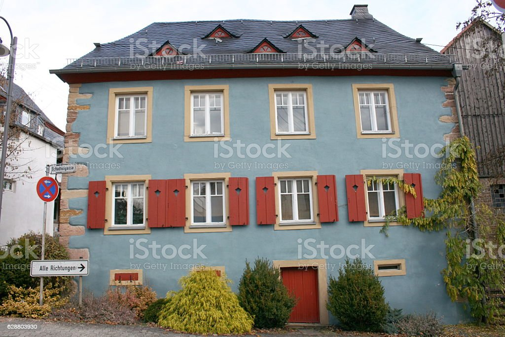 beautiful old house stock photo
