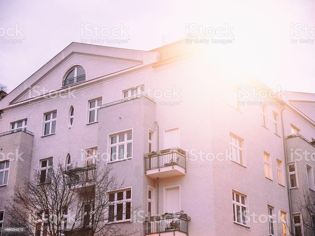 Beautiful old house seen in Berlin stock photo