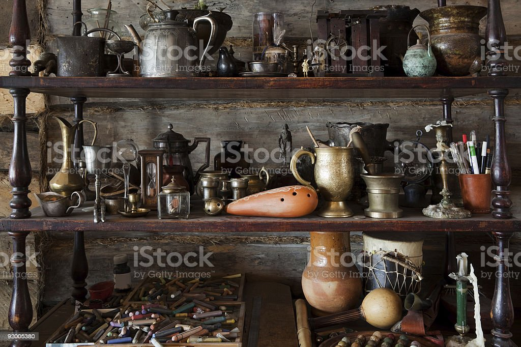 beautiful old objects stock photo