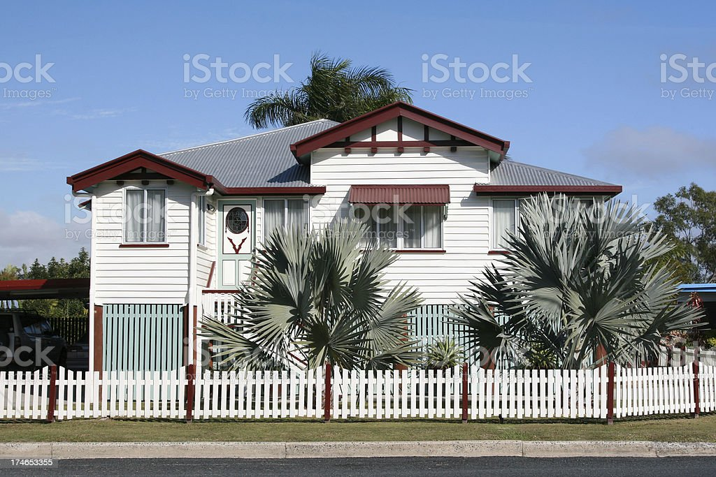 Beautiful Old Queenslander home royalty-free stock photo