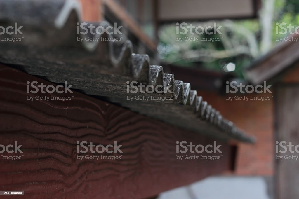 Beautiful old  roof stock photo