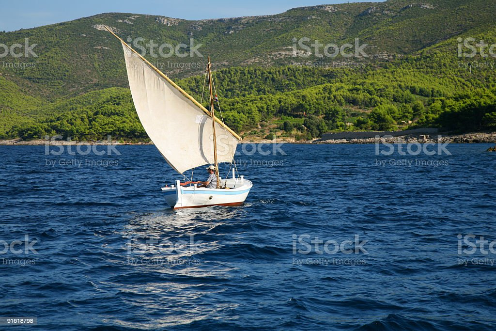 Beautiful old sailing boat royalty-free stock photo