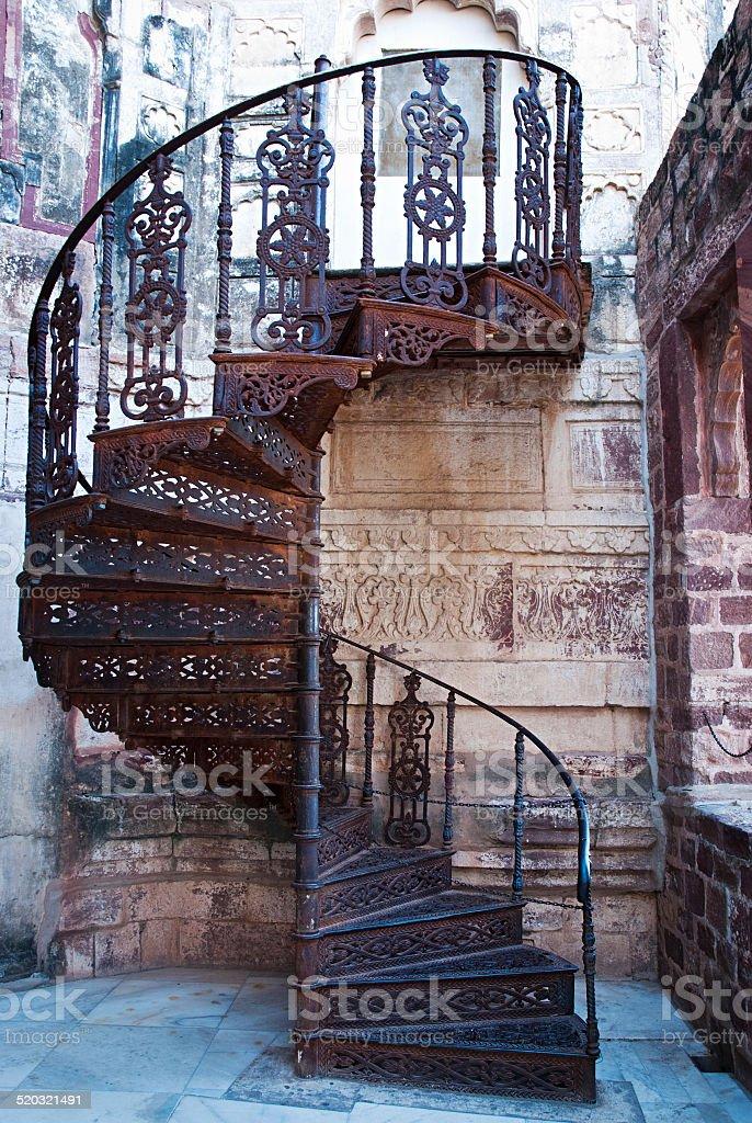 Le magnifique escalier en colimaçon photo libre de droits
