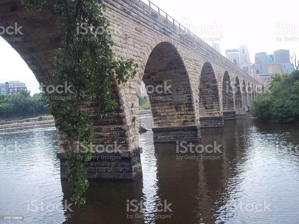Beautiful Old Stone Bridge stock photo