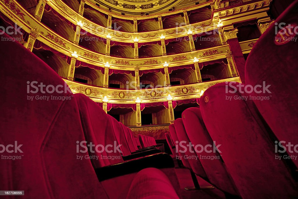 beautiful old  theatre stock photo