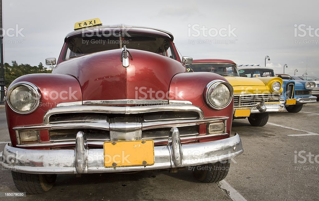 Beautiful old timers in the streets of Havana stock photo