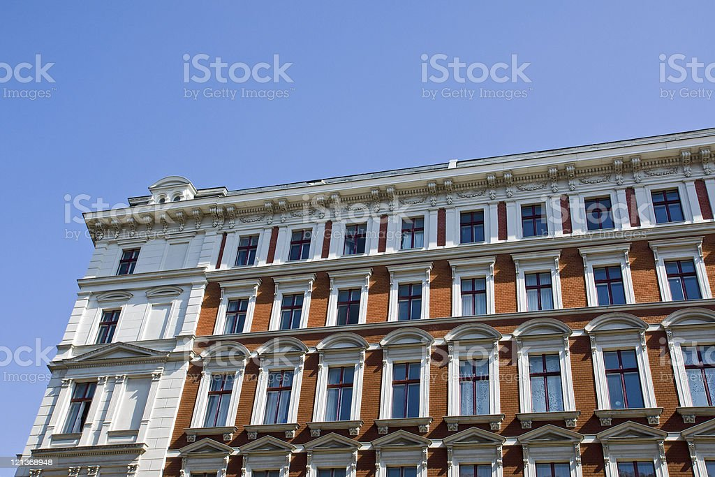 Beautiful old town house stock photo