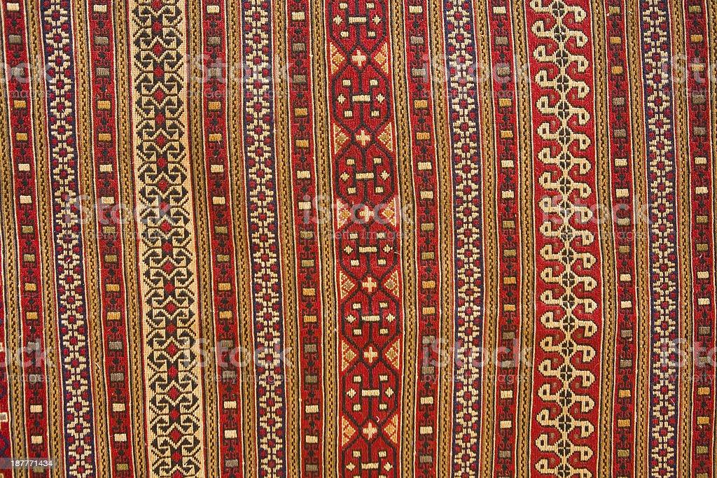 Beautiful old turkish blanket.. royalty-free stock photo