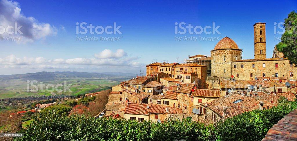 Beautiful old Volterra,Italy stock photo