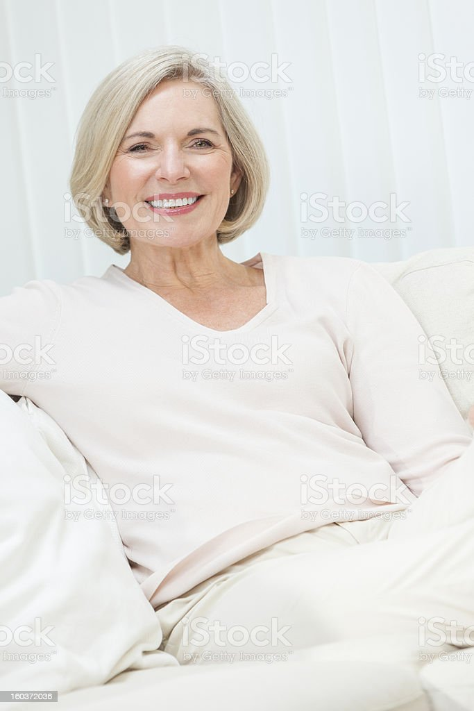 A beautiful older woman with a wonderful smile  royalty-free stock photo
