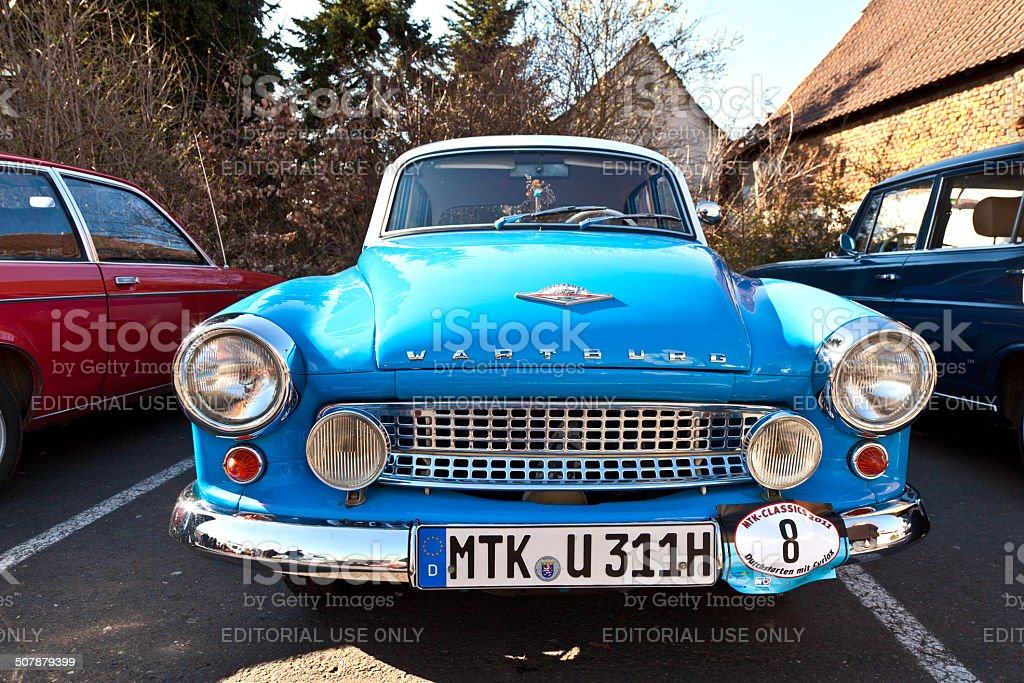 Beautiful oldtimer take place in the MTK Classics 2011 stock photo