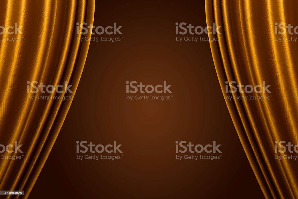 Beautiful Orange curtain background. royalty-free stock photo