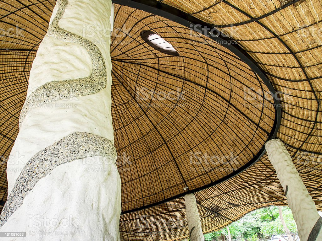 Beautiful organic form Pavilion royalty-free stock photo