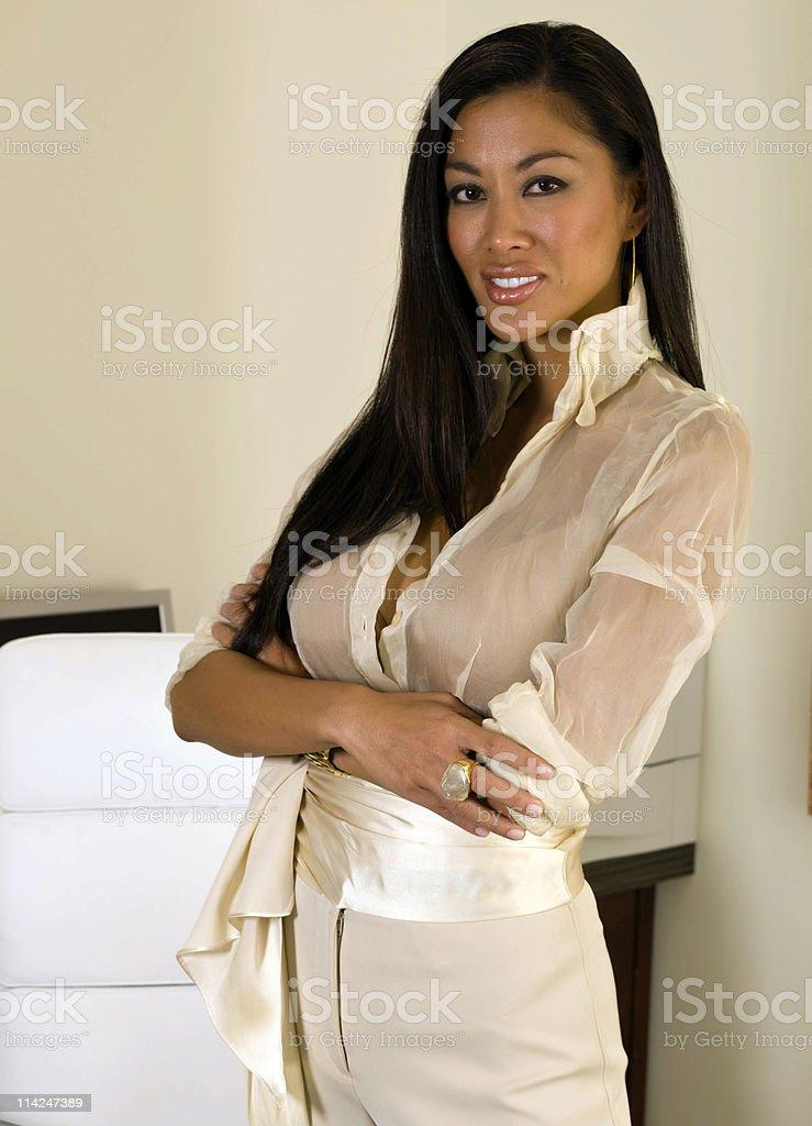 Beautiful Oriental Business Lady royalty-free stock photo