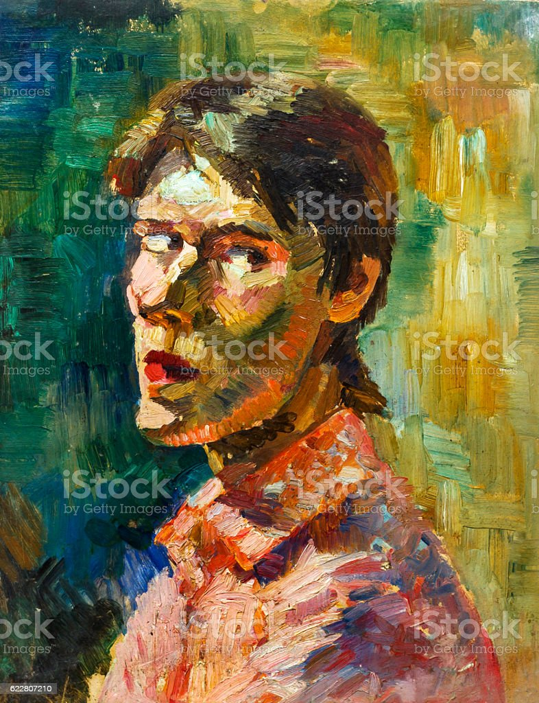 Beautiful Original Oil Painting with royalty-free stock photo