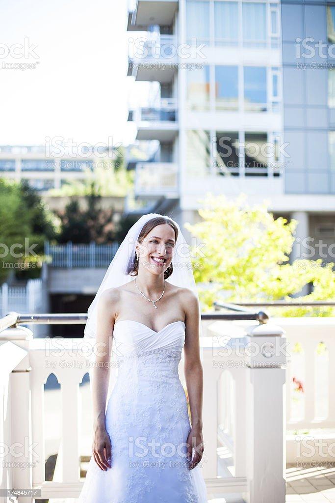 Beautiful Outdoor City Bride royalty-free stock photo