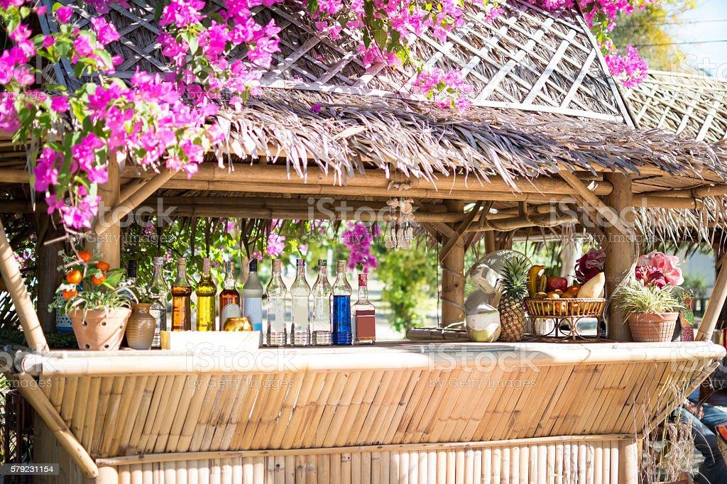 Beautiful Outdoor Cocktail Bar stock photo