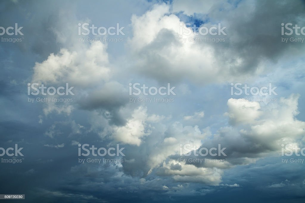 Beautiful overcast sky stock photo