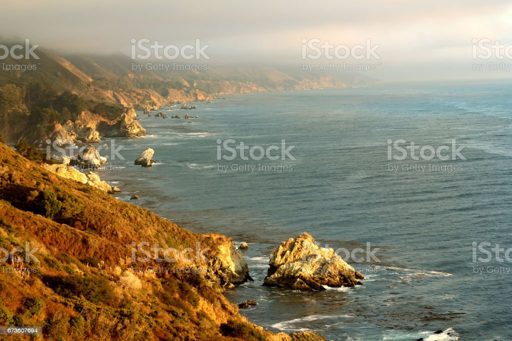 Beautiful Pacific Ocean coast stock photo