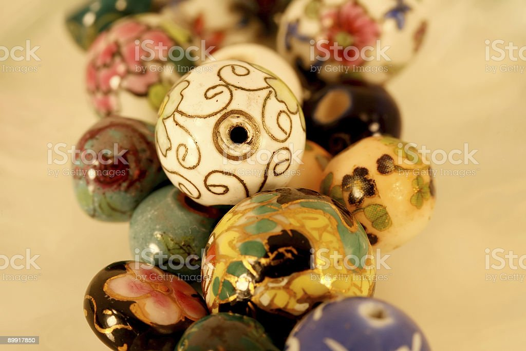 Beautiful painted Beads royalty-free stock photo