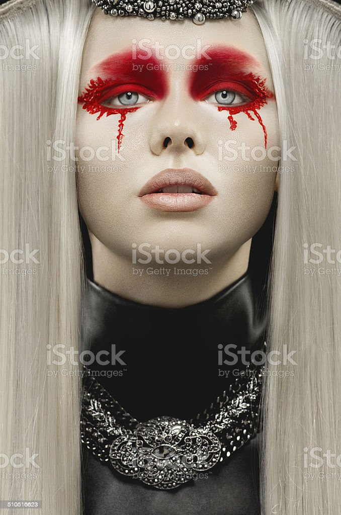 Beautiful pale woman royalty-free stock photo