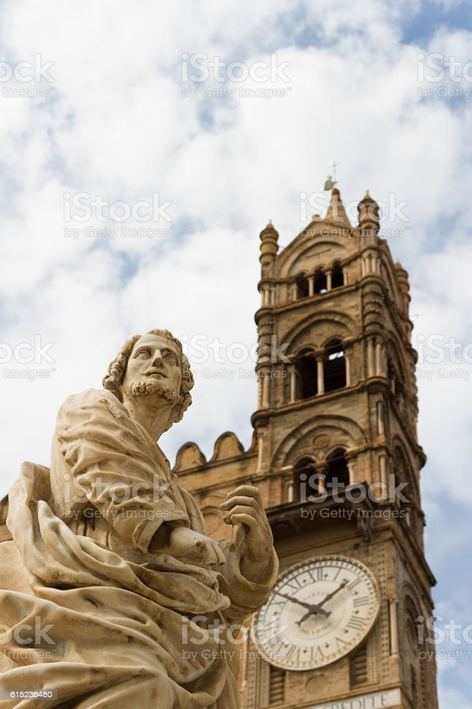 Beautiful Palermo cathedral stock photo