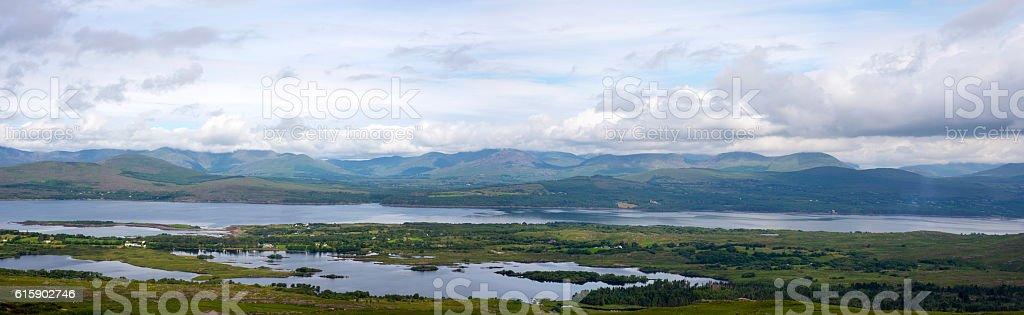beautiful panorama from the kerry way stock photo