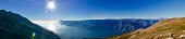 Beautiful panorama of alpine lake