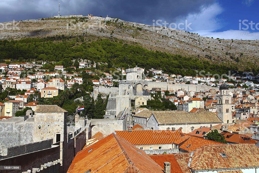 Beautiful panorama of Dubrovnik, Croatia royalty-free stock photo
