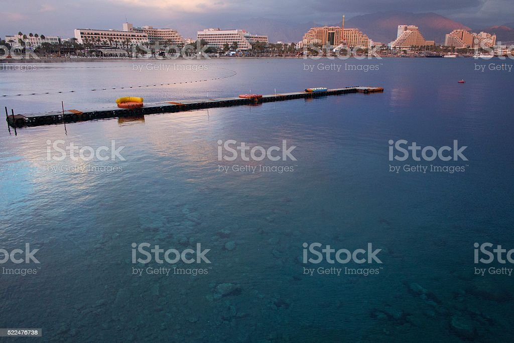 Beautiful Panorama of Eilat Israel stock photo