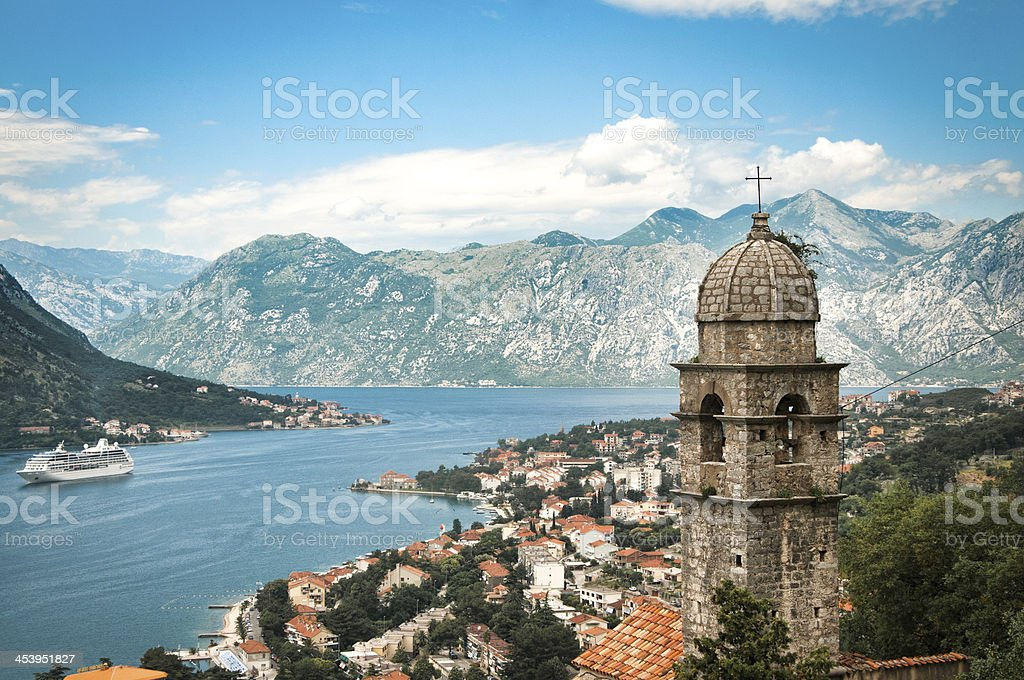 Beautiful Panorama of Kotor stock photo