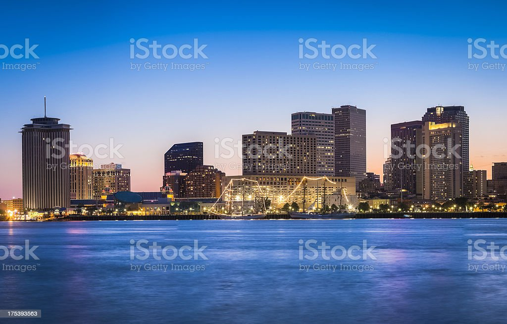 A beautiful panorama of New Orleans skyline stock photo