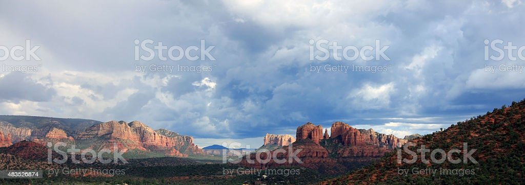 Beautiful Panoramic Of Sedona stock photo