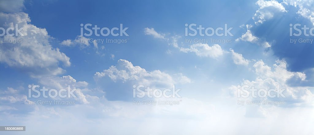 Beautiful panoramic sky royalty-free stock photo