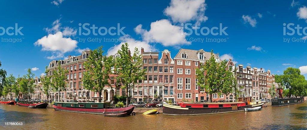 A beautiful panoramic view of Amsterdam stock photo
