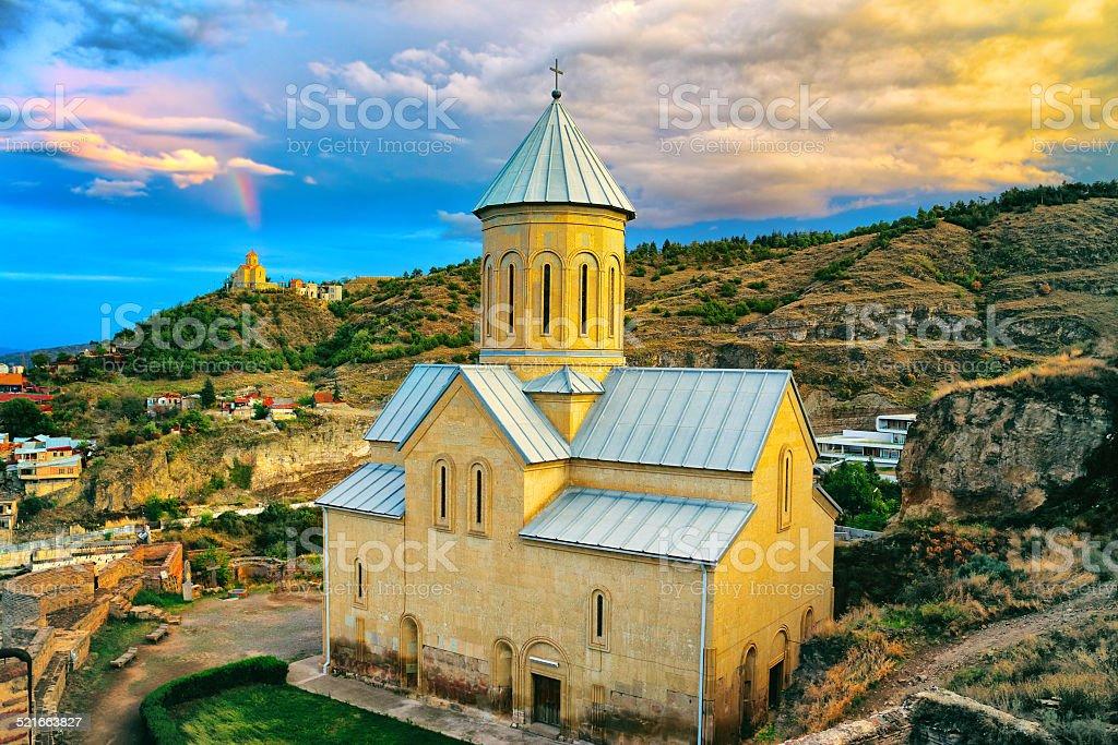 Beautiful panoramic view of Tbilisi. Georgia stock photo
