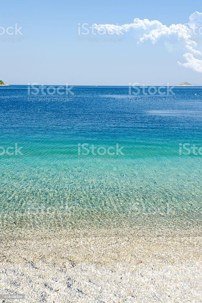 Beautiful Panormos beach stock photo
