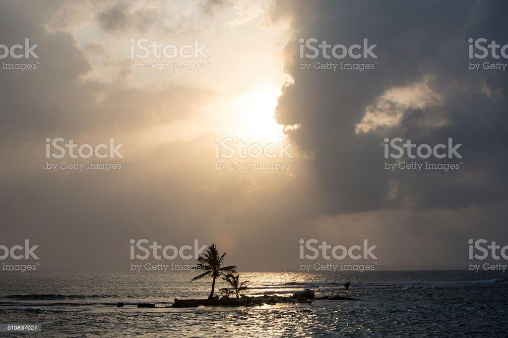 Beautiful paradise island, San Blas stock photo