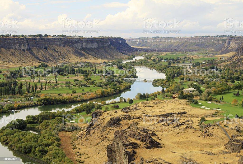 Beautiful paradise landscape - Snake River Canyon, Idaho royalty-free stock photo